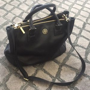 Tory Burch Large Double Zip Robinson Tote Purse
